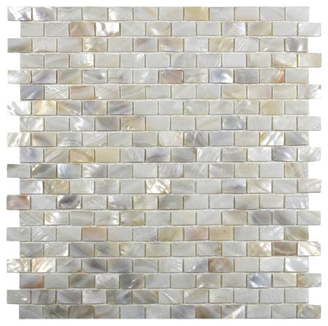 tile for backsplash kitchen brick pearl shell tile modern tile by subway 6145