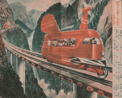 retro rail  real visionary historic monorail designs