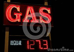 Neon Gas Sign Royalty Free Stock graphy Image