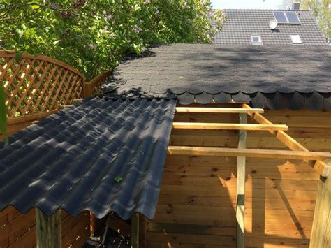 schleppdach am gartenhaus selber bauen g 252 nstiger holzunterstand hausbau