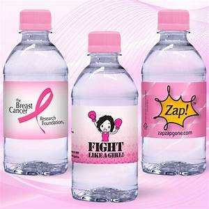 12 oz custom label spring water w pink flat cap clear With bottled water custom label wholesale