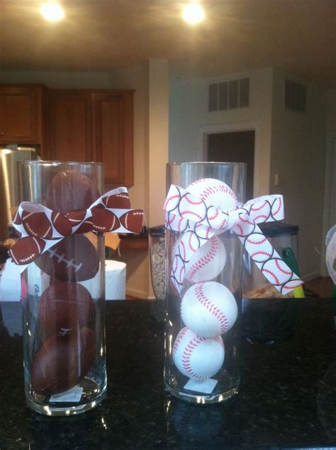 sports centerpieces for tables centerpieces for sports themed baby shower could fill