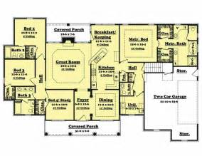 4 bedroom house plan traditional country home floor plan four bedrooms plan
