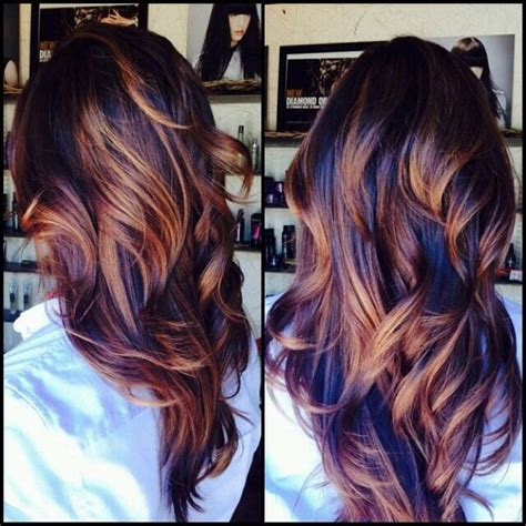 Navy Blue Lowlights by Hair Color Trends 2017 2018 Highlights Beautifull