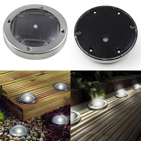 buy white solar powered led deck lights of strictly led s