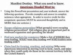 manifest destiny examples