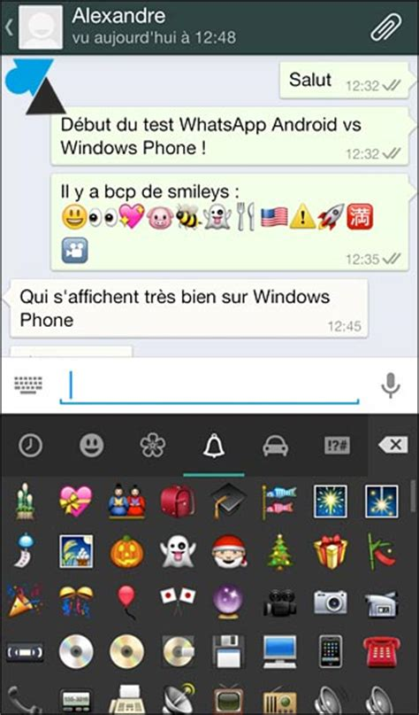 whatsapp comparatif android et windows phone windowsfacile fr