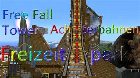 freizeitpark minecraft achterbahnen  fall tower