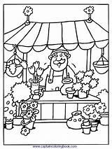 Coloring Kleurplaten Markt Pages Grocery Kleurplaat Store Nl Van Thema Op Eten Popular Pasen Voor sketch template