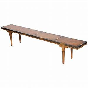 narrow mastercraft coffee table at 1stdibs With skinny wood coffee table