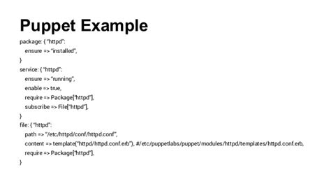 Puppet Erb Template by Configuration Management Finding The Tool To Fit Your Needs