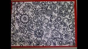 Schöne Muster Zum Selber Malen : zentangle zeichnung mandala zeichnen zeitraffer simple doodle design youtube ~ Orissabook.com Haus und Dekorationen