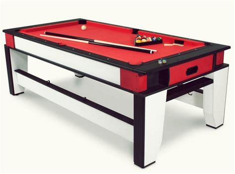 rotating air hockey  billiards table   game room