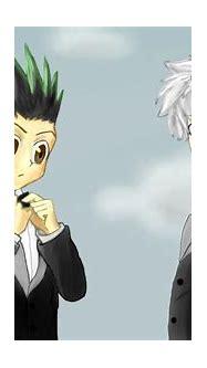 Gon and Killua in suits by imsofiawbu on DeviantArt