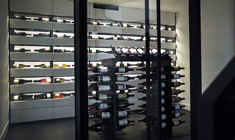 custom design wine cellar in mineral resin leuven 2016