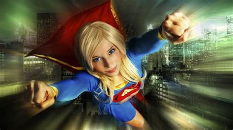 Supergirl, Superhero, Blonde, Flying, Blue Eyes, Women