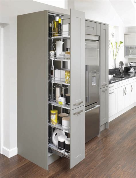 Pull Out Cupboards by Canterbury Olive Pebble Pull Out Larder Unit Mereway