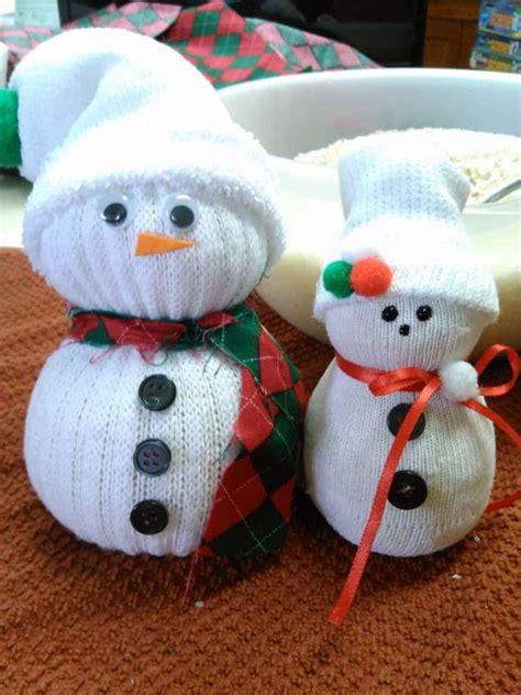 cozy cute sock snowmen