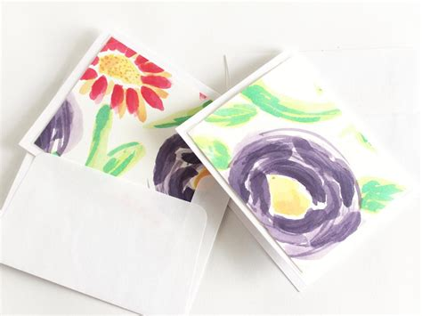 Make Your Own Watercolor Note Cards Hgtv