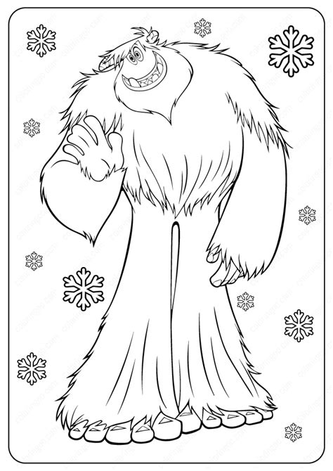 yeti coloring pages coloring home