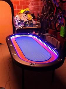 WTS Table De Poker Neuve 10 Joueurs Avec Lampe LED