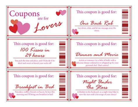 Coupon Book Template For Boyfriend by Coupon Bookprintabledigitalstocking