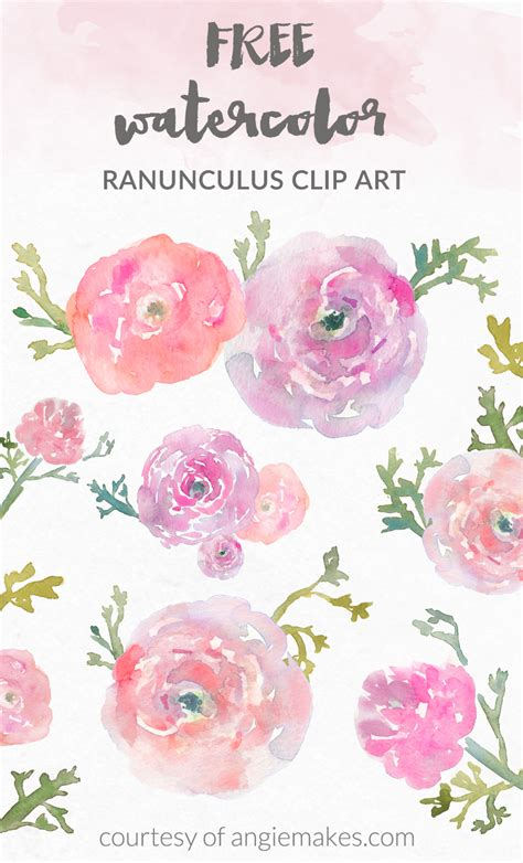 free watercolor clipart angie makes free watercolor flower clipart