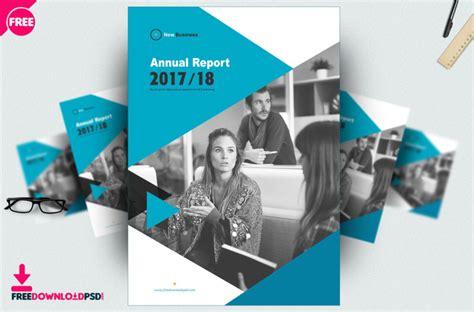 brochure annual report template psd freedownloadpsdcom
