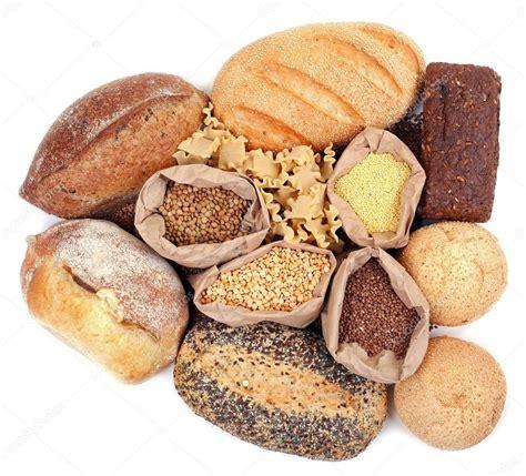 Diversi Tipi Di - diversi tipi di pane pasta e cereali foto stock
