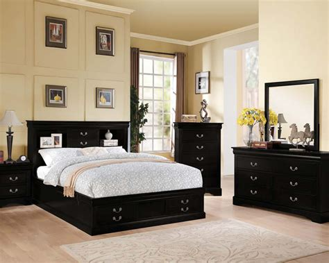 acme black bedroom set louis philippe iii acset