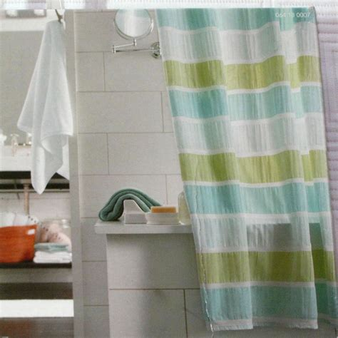 shower curtains target target seersucker stripe blue green threshold fabric