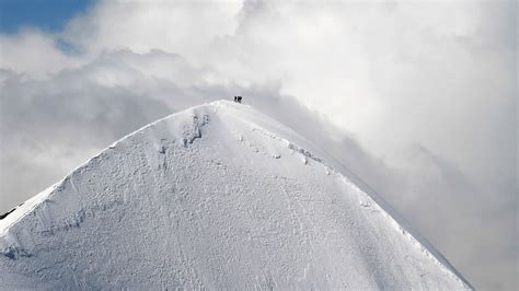 hd wallpaper snow peak mountain