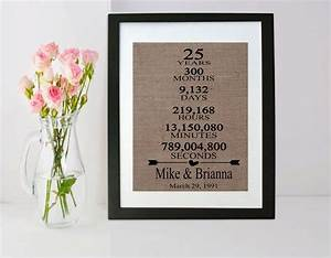 1000 ideas about 25th anniversary gifts on pinterest With 25 wedding anniversary gift