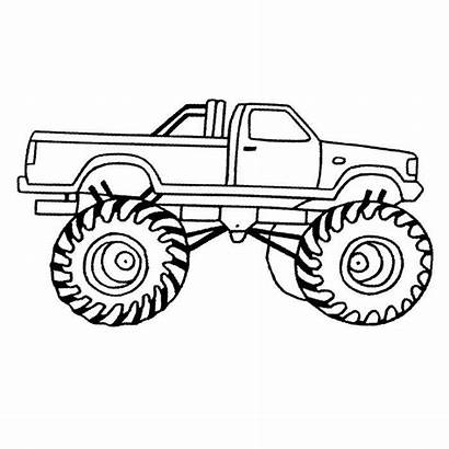 Coloring Truck Monster Pages Trucks Drawing Printable