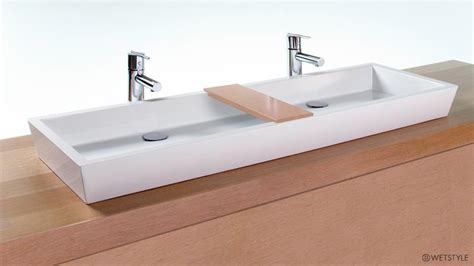 vc848a 48 quot bathroom double trough sink the cube