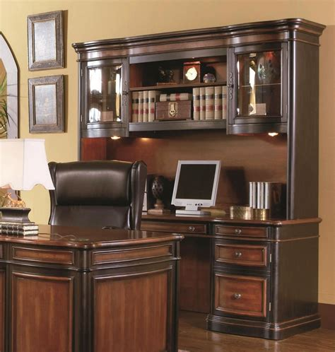 Office Desk With Credenza by Executive 3 Office Furniture Set Credenza Hutch