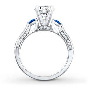 lab created white sapphire engagement rings jared engagement ring lab created sapphires 14k white gold