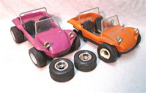 Vintage Cox Gas Powered Dune Buggys Orange And Purple