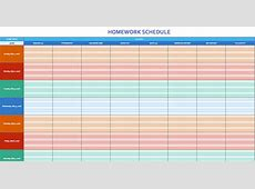 Monthly Schedule Template cyberuse