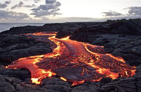 hawaii hike  lead  straight  flowing lava