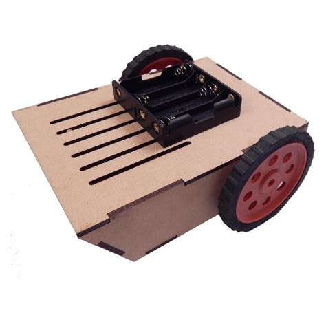 2 Wheel Drive Robot Smart Car Chassis Inclined Front Look