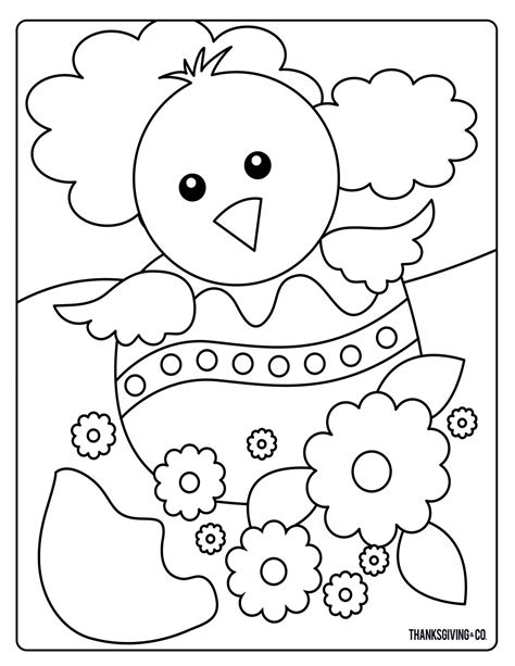 sweet and easter coloring pages