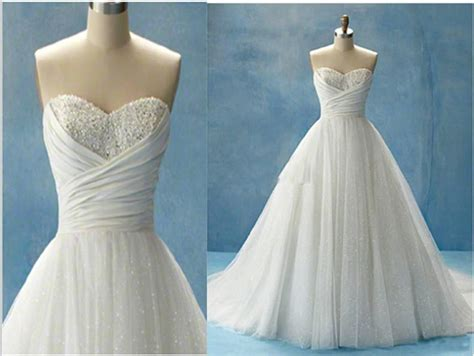 White Cinderella Beach Wedding Dresses Glitter Ball Gown