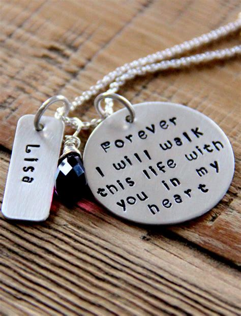 loss  loved  necklace sterling silver memorial jewelry
