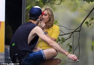 Asher Keddie Enjoys Cigarette Break During Filming Of