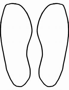 Outline Of A Foot Print - ClipArt Best