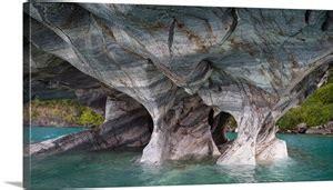 marble caves general carrera lake patagonia chile photo