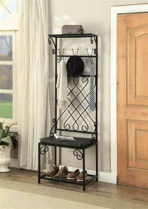 Entryway Bench With Shoe Storage And Coat Rack by Entryway Shoe Bench With Coat Rack Tree Home Storage