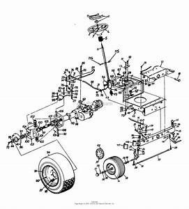 Mtd 1361614g701  1996  Parts Diagram For Wheel Assembly  Axle  Rear