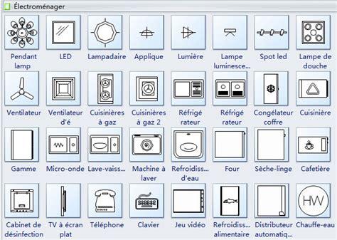 telecharger logiciel cuisine 3d gratuit symboles d 39 électroménagers pour le plan de construction